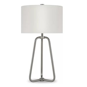 Jiles 26 Table Lamp Nickel