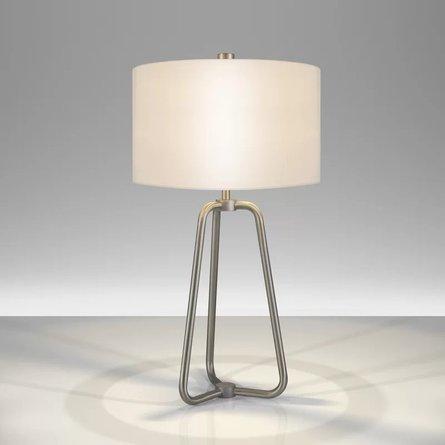 """Jiles Table Lamp Nickel - 26"""""""