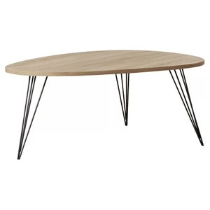 Altarf Coffee Table Gray Oak & Black