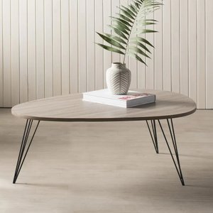 Altarf Coffee Table Oak & Black