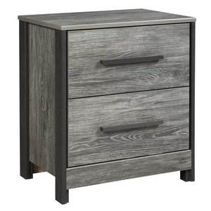 Abbott 2 Drawer Nightstand Gray