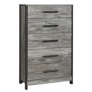 Abbott 5 Drawer Chest Gray