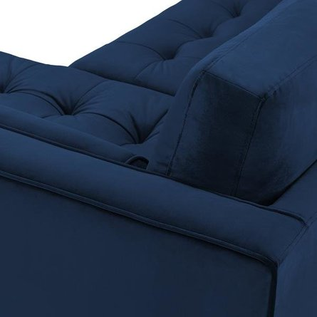 Inga Right Extended Sectional Sofa Space Blue