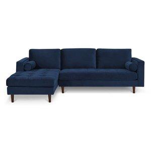 Inga Left Sectional Sofa Blue