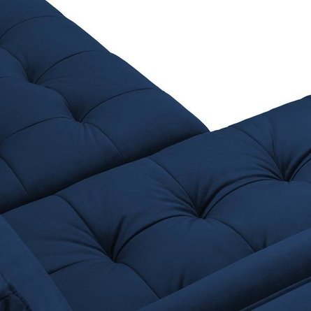 Inga Left Sectional Sofa Blue