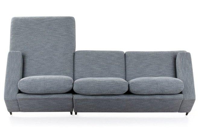 Tioga Right Sectional Sofa Gray