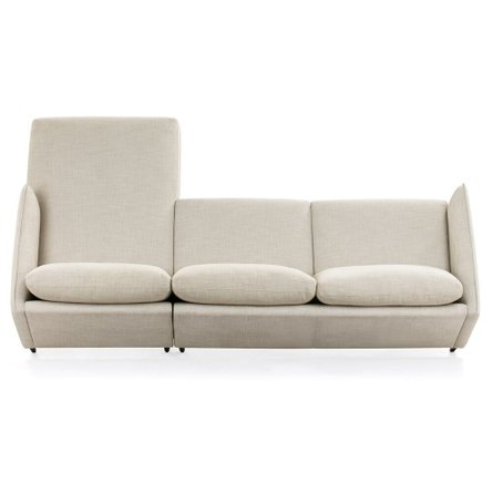Avalon Right Sectional Sofa Light Gray