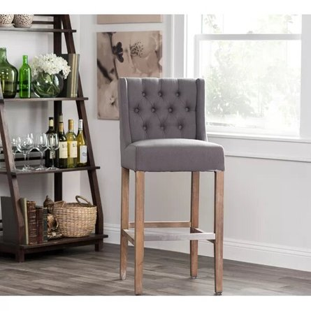 "Sixtine Bar Stool 30"" Gray"