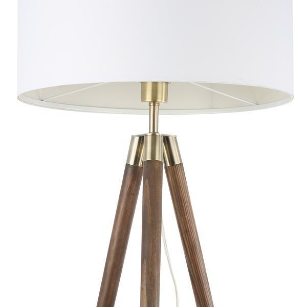 Lasam Tripod Floor Lamp Walnut In Sf Lamps Bureauone