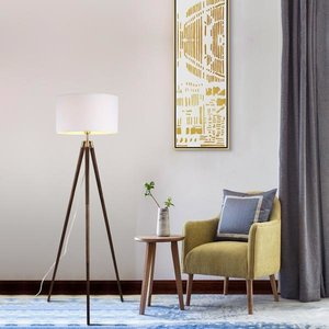 Lasam Tripod Floor Lamp Walnut