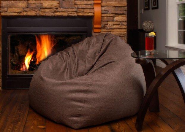 The Big Pear Bean Bag Chair Brown