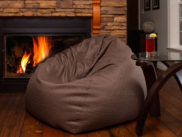 The Big Pear Bean Bag Chair Brown