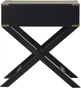 Madge 1 Drawer End Table Vulcan Black