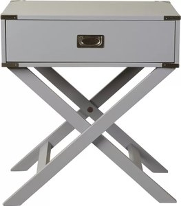 Madge 1 Drawer End Table Gray