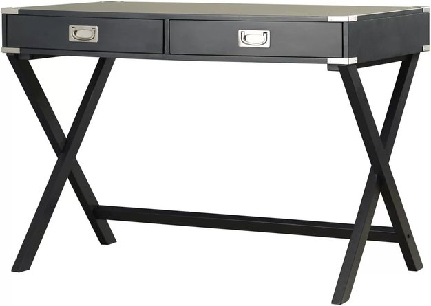 Madge Campaign Writing Desk Valcun Black