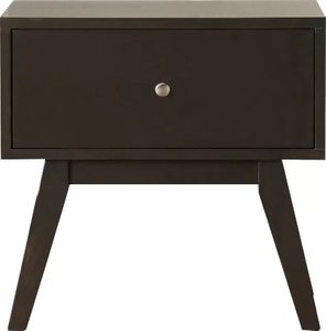 Achird 1 Drawer Nightstand Walnut