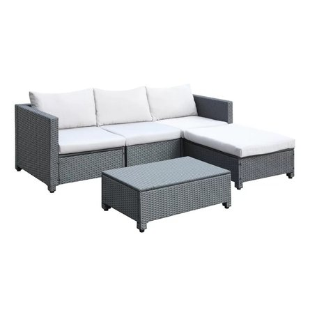 Dowell Sectional Sofa Set 5 Piece Gray