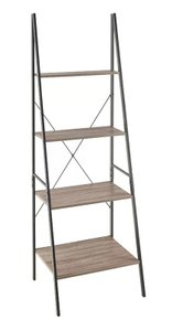 Algol Ladder Bookcase Gray & Black