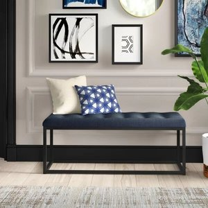 Lembus Upholstered Bench Navy