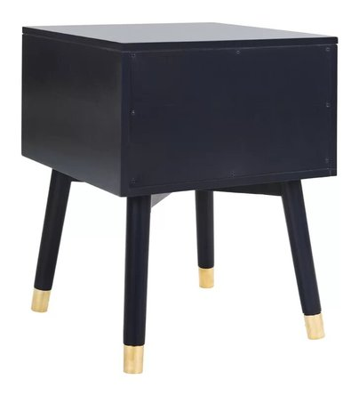 Kraemer 2 Drawer Nightstand Navy And Gold