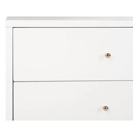 Kraemer 2 Drawer Nightstand White And Gold