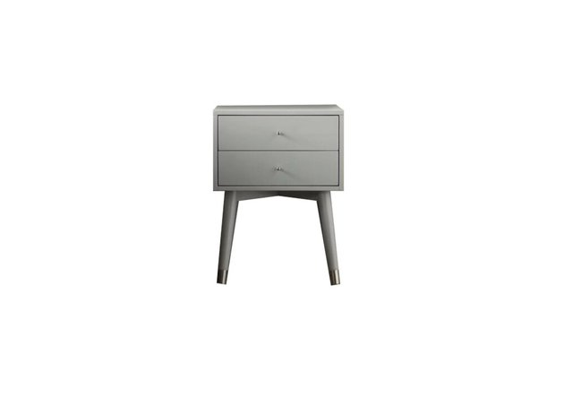 Kraemer 2 Drawer Nightstand Gray And Silver
