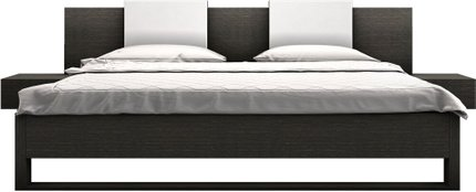 Monroe King Bed Gray Oak