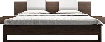 Monroe Queen Bed Walnut