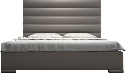 Prince King Bed Castle Gray Eco Leather