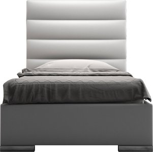 Prince Twin Bed White Eco Leather