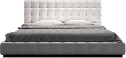 Thompson Cal King Bed White Eco Leather