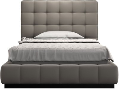 Thompson Twin Bed Castle Gray Eco Leather