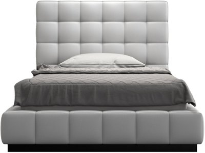 Thompson Twin Bed White Eco Leather