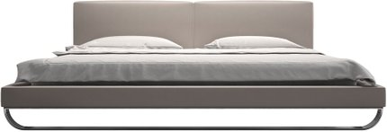 Chelsea Cal King Bed Castle Gray Eco Leather