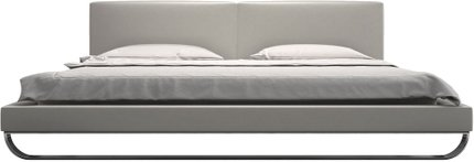 Chelsea Queen Bed Pearl Gray Eco Leather
