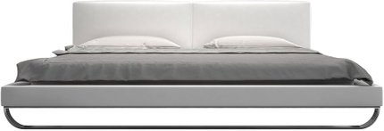 Chelsea Queen Bed White Eco Leather