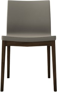 Enna Dining Chair Dove Gray And Walnut (Set of 2)