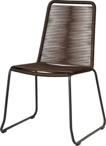 Austin Stacking Patio Dining Chair Mocha (Set of 2)