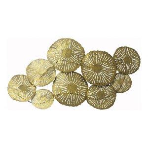 Large Circles Wall Decor Gold