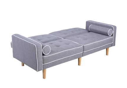 Milton Convertible Sofa Light Gray