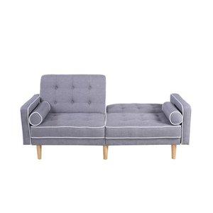 Milton Convertible Sofa Light Gray