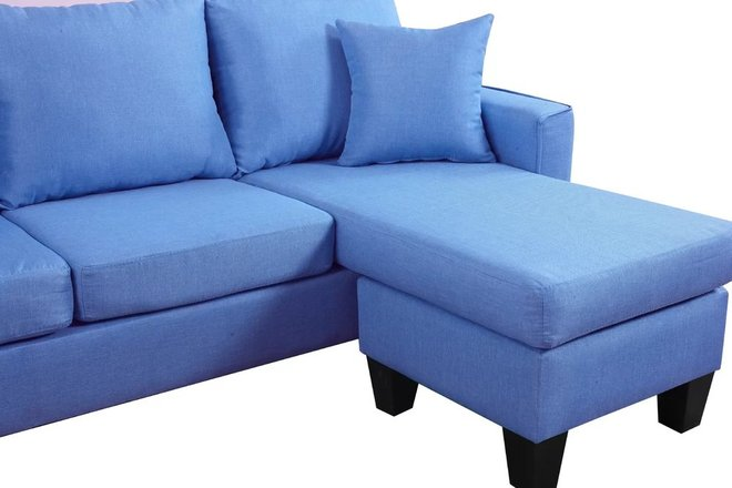 Alzirr Reversible Sectional Blue