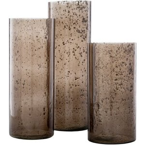 Mist Candle Holder Taupe (Set of 3)