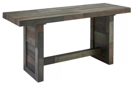 Abbey Counter Height Dining Table Charcoal