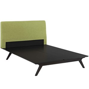 Tracy Queen Bed Cappuccino And Green