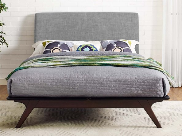 Tracy Queen Bed Cappuccino And Gray