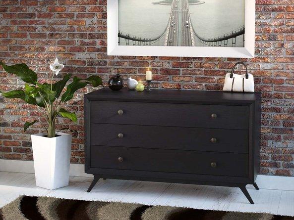 Tracy Wood Dresser Black