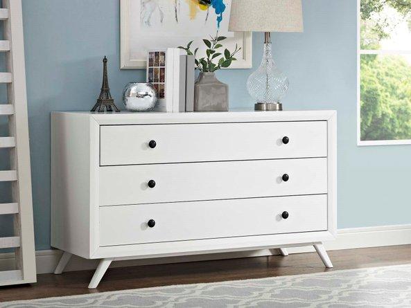 Tracy Wood Dresser White