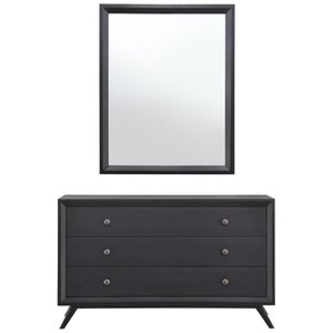Tracy Dresser With Mirror Black