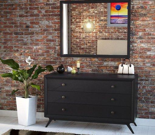 Tracy Dresser With Mirror Black